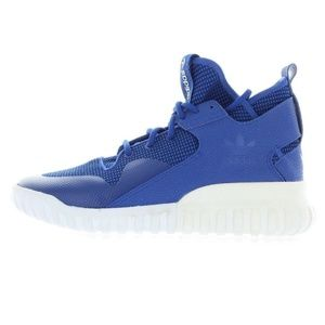 Mens Blue White TubularX Basketball Shoes Sneakers